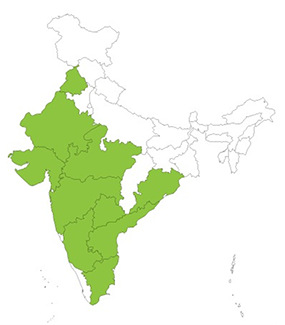 India map for website