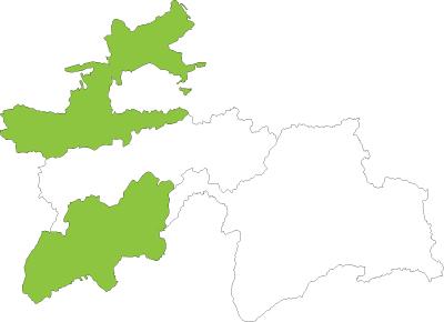 Tajikistan map 2014